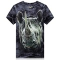 2016 estilo de Rua roupas de marca 3D Impresso Tie-dye Camiseta animal engraçado t-shirt dos homens casuais hip hop tshirt homme camiseta hombre