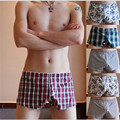 9 color mens fashion cotton underwear print men boxer shorts  seemless breathable underpants free shipping