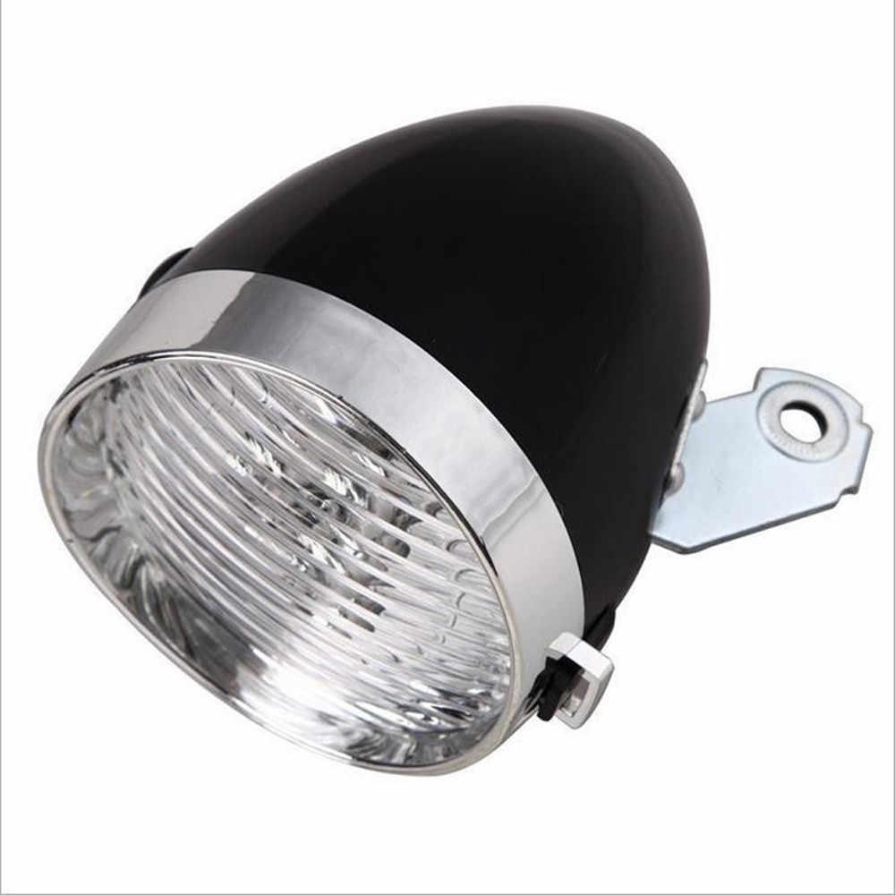 Retro 3 LED MTB Bicycle Light Waterproof Bike Head Light Front Lamp Road Flashlight Bracket Mountain Cycling Accessories