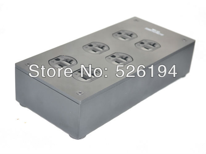цена на Free shipping one pieces Acrolink CF-306 Carbon fiber 6 outlet AC power supply distributor