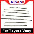 Отделка из нержавеющей стали для автомобильных окон  наружное украшение  переделанные 8 шт. для Toyota NOAH/VOXY 2014-2017  отделка на нижний подоконник