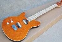 Лидер продаж Music Man Ось левой электрогитара линии Orange Body Double pick up 0328