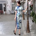 Free shipping vestidos Short Sleeve Qipao vintage chinese cheongsam dress Chinese woman dress oriental Style dress