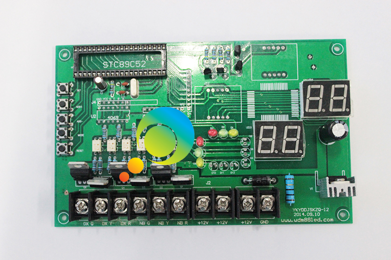 DC 12V High technical one intersection led traffic signal light controller board