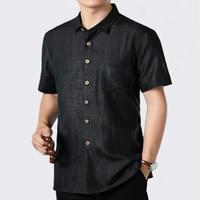 2019 лето 100% шелк Для мужчин рубашка короткий рукав Повседневное черная рубашка мужской социальной свободный человек рубашки Высокое качест