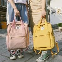 Mochilas Harajuku Solid Bag Korean Backpack Softback Fashion Knapsack Schoolbag Women Backpack Canvas Backpack Travel Laptop