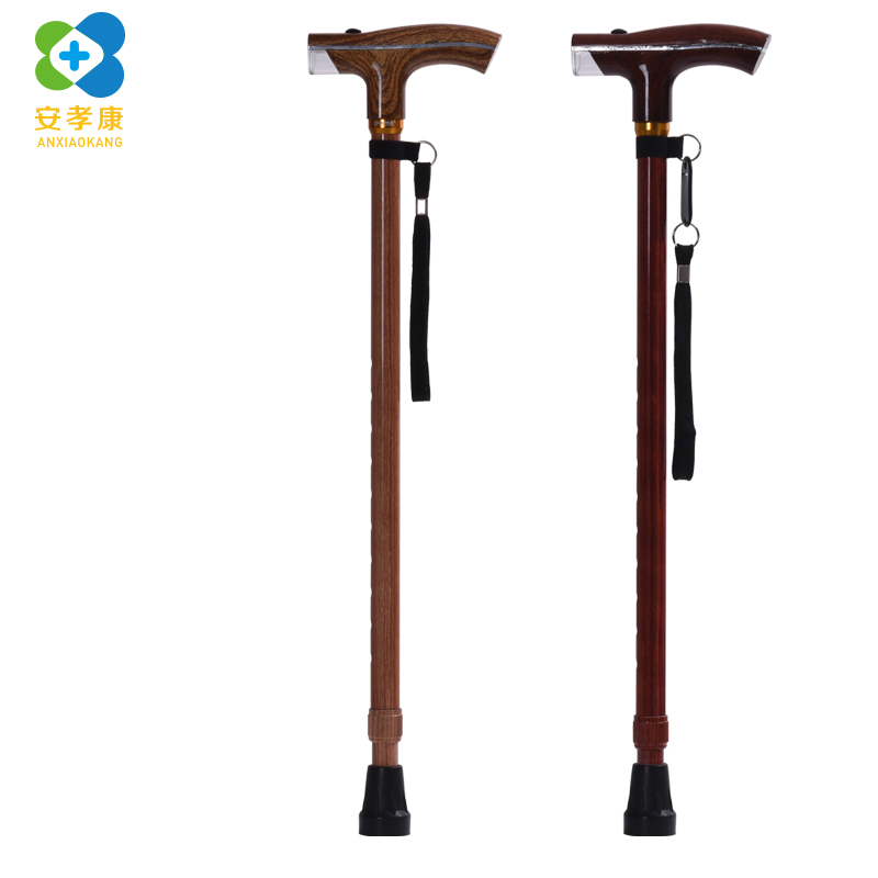 ANXIAOKANG Elderly Walking Stick High Grade Wood Grain Old Man Crutch Aluminum Alloy Stick Multi-purpose Old Man's Poles Cane stephen johnson scott emergent ignite purpose transform culture make change stick