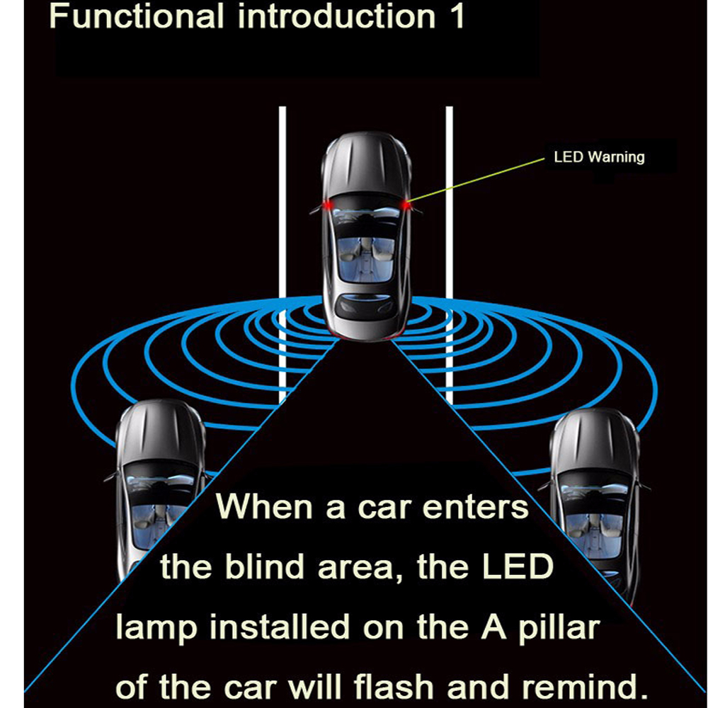 Image 5 - Newest Car Blind Spot Mirror Radar Detection System BSD BSA BSM Microwave Blind Spot Monitoring Assistant Car Driving Security-in Parking Sensors from Automobiles & Motorcycles