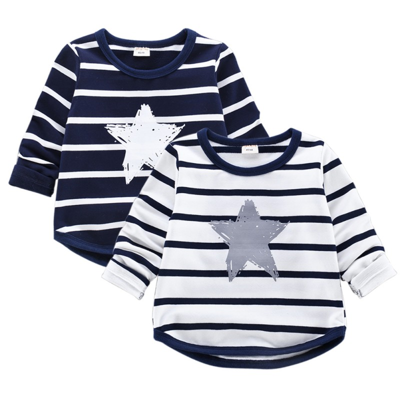 Top quality Baby Boys Girls T-shirt Kids Tees child clothes long sleeve Tops For Spring Autumn