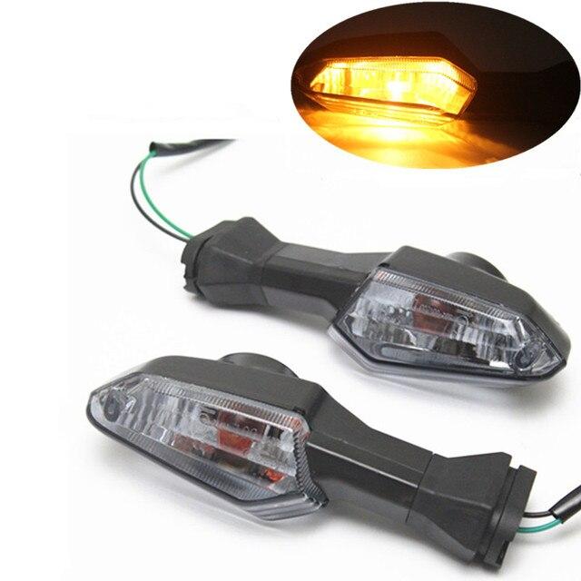 2x Rear Motorcycle Amber Turn Signal Indicator Lights For Kawasaki