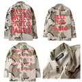 Yeezy Куртки Пустынный Камуфляж Мужчины Kanye West Хип-Хоп Зима пабло Джинсы Куртки Я Чувствую, Как ПАБЛО Windbreake Тур trashe куртка