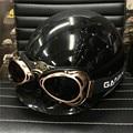 2017 high quality Harley Motorcycle Helmet goggles Half Face Cruiser Retro Vintage Helmet Goggles glasses gafas para moto