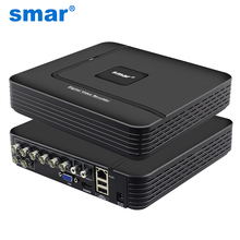 Новые Super HD 4MP AHD DVR H.264 4CH 8CH мини Гибридный видеонаблюдения DVR HVR 5 в 1 для 4MP 3MP/AHD/IP Камера xmeye P2P Onvif Smar