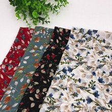 100% Polyester Fabric Pearl Chiffon Floral Print DIY Sewing Patchwork Dress Shawl for Textile Material