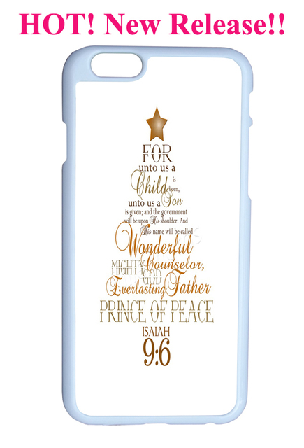 isaiah 96 on christmas tree bible christian quote verses hardy plastic cover protector sleeve