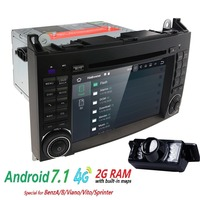 Android 7 1car Radio DVD 2din For Mercedes Benz Sprinter A Class B200 Vito Viano W169