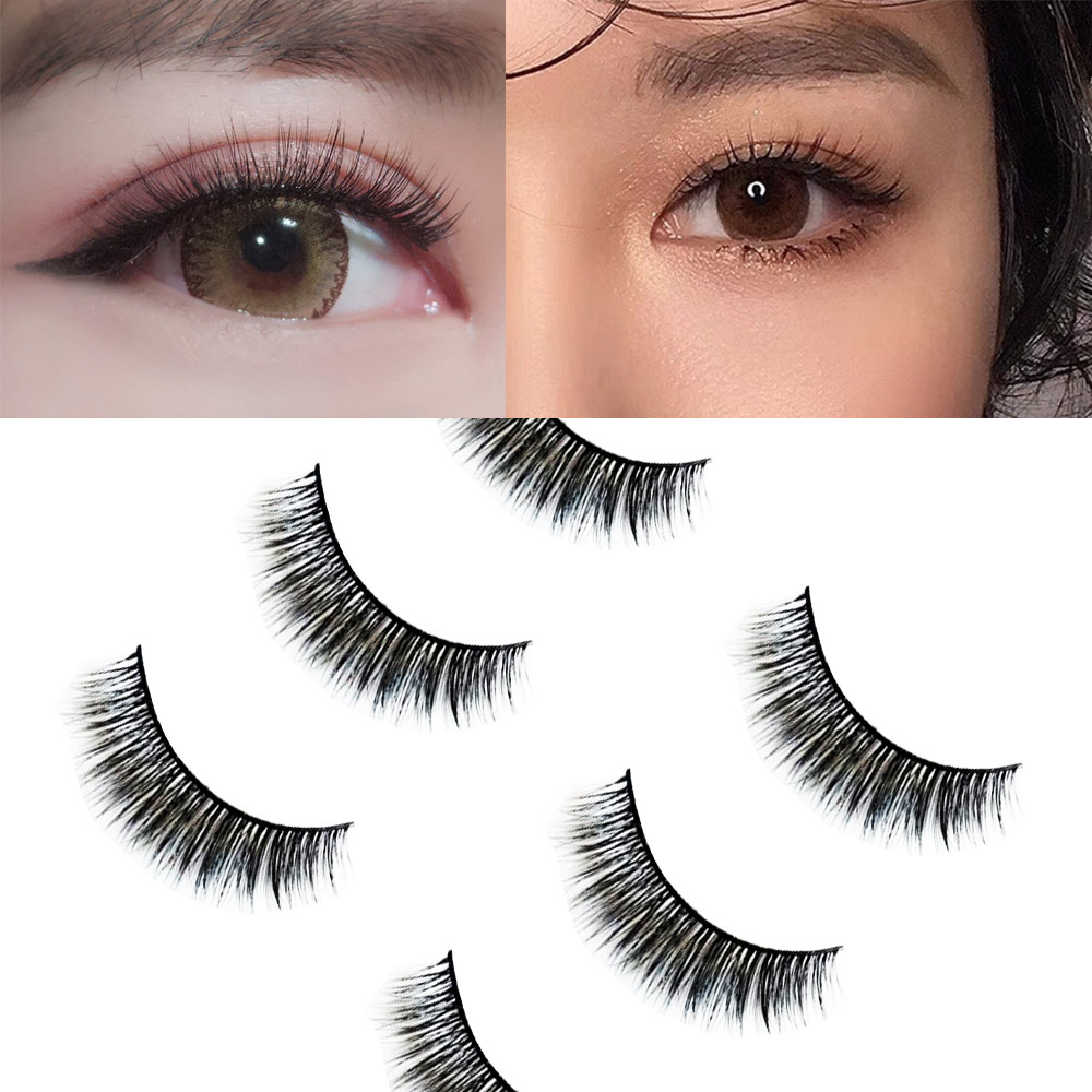 3 Pairs Mink Eyelashes Natural 3d Eye Lashes Hand Made Makeup Beauty Cheap False Eyelashes Full Strip Lashes in False Eyelashes from Beauty Health