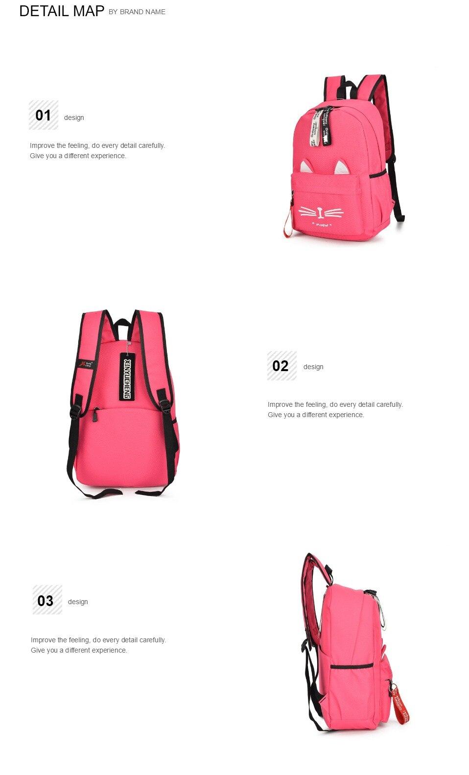 menina mochila mochila para adolescente roxo náilon