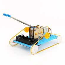 DIY Educational Electric Robot Tank Scientific Invention Toys Good Gifts for Kids Gift Birthday Present(China)