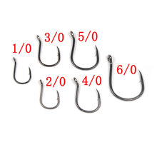 100PCS High-carbon Steel Barbed Jigs Hook Saltwater Fishing Hooks Wide Hooks Bait Fishing Hook