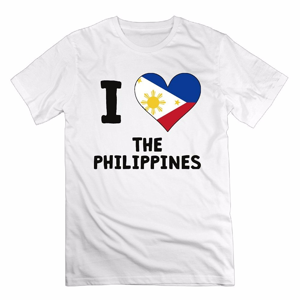 Design t shirt love - Aliexpress Com Buy New Arrivals Creative Design Summer Casual I Love And Heart The Philippines Logo Men S O Neck Cotton T Shirt From Reliable Cotton