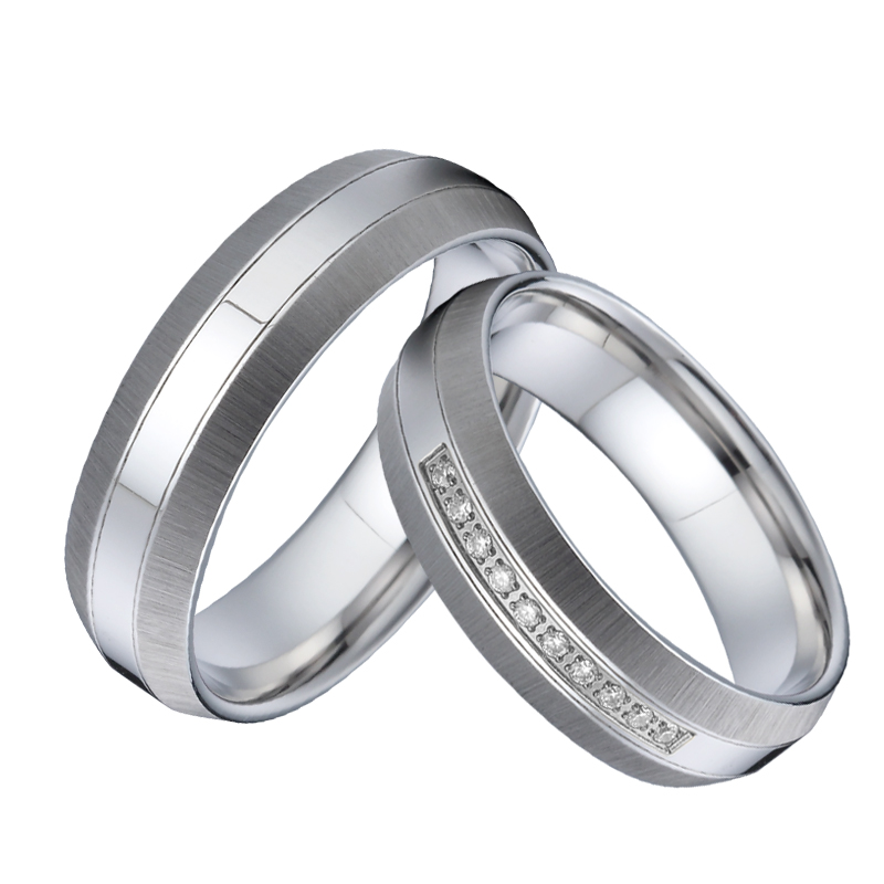 Unique Men Wedding Band Silver white gold color anillos ...