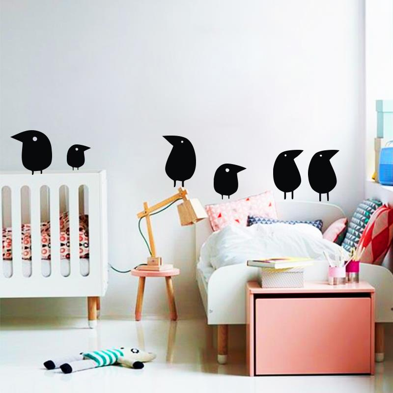 Bird wall sticker home decor set of 6 birds bird vinyl decals ...