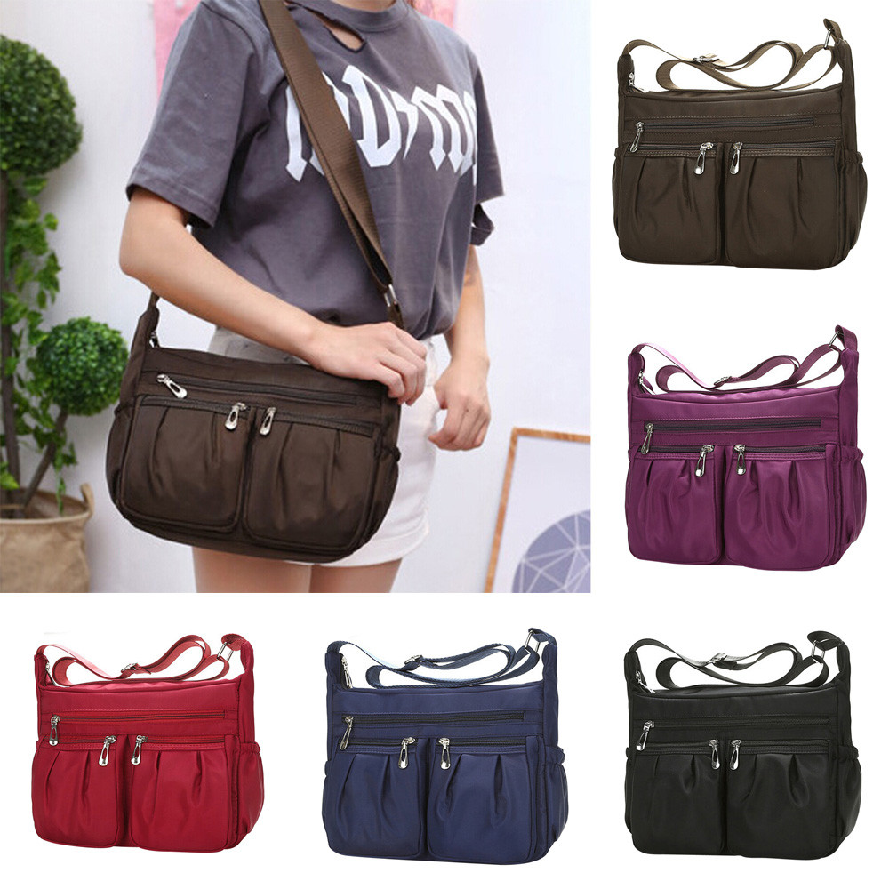 7c086dce0c Aelicy New 2018 Casual Nylon Bag Shoulder Bags Messenger Multilayer Bag  Waterproof Nylon Lady Mom Casual Handbag bolsas feminina-in Shoulder Bags  from ...