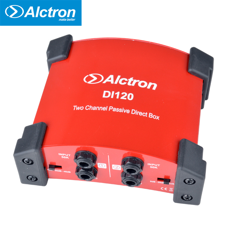Alctron DI120 passive DI box used in guitar recording and stage performance great for keyboard acoustic