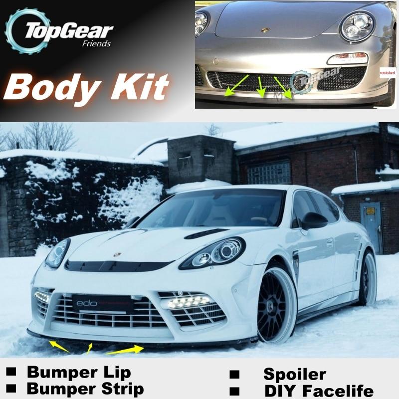 For Porsche Panamera 970 / 911 Bumper Lip Lips / Top Gear