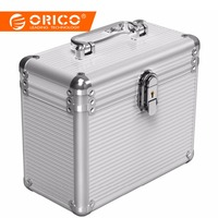 ORICO Aluminum 5 & 10 bays 3.5 inch Hard Drive Protection Box Storage with Locking(not including HDD) Silver