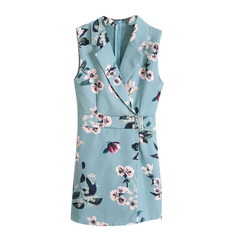 2019 Summer New Korean Women Sleeveless Jumpsuit Flora Printing Short Bodysuit Sexy Rompers Womens jumpsuit Combinaison Femme