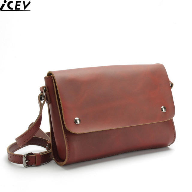 2017 New Fashion Simple Flap Genuine Leather Bags Handbags Women Famous Brands Designer Office For