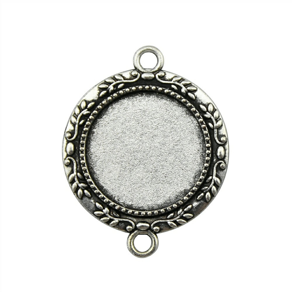 10pcs 20mm Inner Size Vintage Antique Bronze, Antique Silver Color Zinc Alloy Branch Cameo Cabochon Base Setting Connector mibrow 10pcs lot stainless steel 8 10 12 14 16 18 20mm blank french lever earring tray cabochon setting cameo base jewelry
