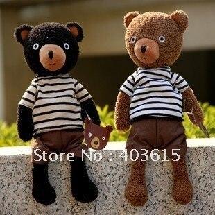 Brand new hot sale 20% off plush toy doll retro dressing cloth Teddy bear good for gift 38 cm 1pc