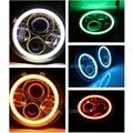 """Harley 7 """"Round LED Proyección Daymaker Faro con ángulo de los ojos anillo del halo para Motocicletas Harley llevó la bombilla del faro"""