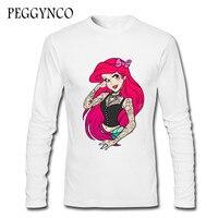 New Men T Shirt Cartoon Snow White Princess Cute Animal Printed Tshirts Summer Casual Tee Tops