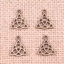 136pcs Charms celtic knot amulet 16x14mm Antique Making pendant fit,Vintage Tibetan Bronze,DIY bracelet necklace