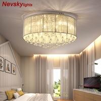 Water drop K9 Cascade crystal Ceiling Lights luxury European style lampadas de led para teto round shade modern plafon luminaria