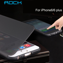 ROCK Flip PC TPU Case bag For iPhone 6 4.7 inch Transparent Full-screen View Window smart Cover for 6 plus 5.5 is optional