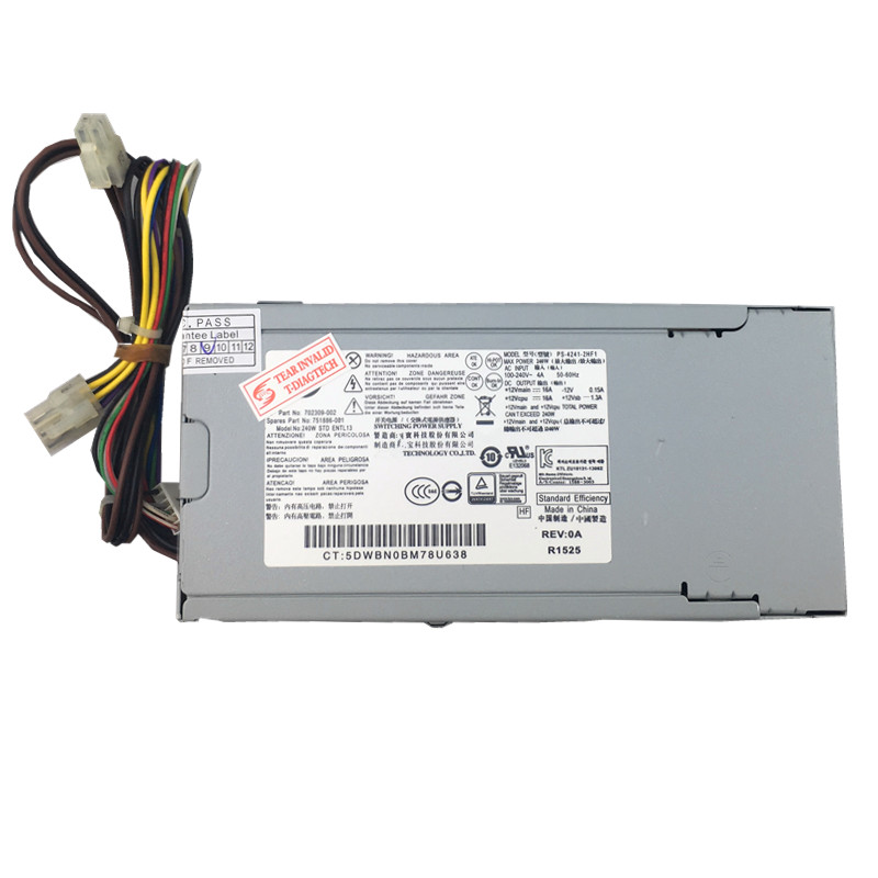 где купить 240W Power Supply PSU For 600 G1 700 G1 800 G1 702309-0800 SFF Power Supply 240W 751884 751886-001 702309-002 240W Server Power дешево