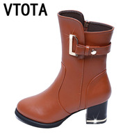 VTOTA Women Boots 2017 Autumn Winter Boots New High Heels Shoes Woman Bota Feminina Women Winter