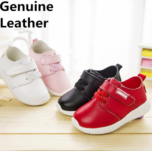 Cool 1pair Genuine Leather Children Shoes, high quality comfortable KID/Girl/BOY shoes