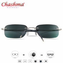 Titanium Transition Sunglasses Photochromic Reading Glasses Men Hyperopia Presbyopia with diopters Outdoor