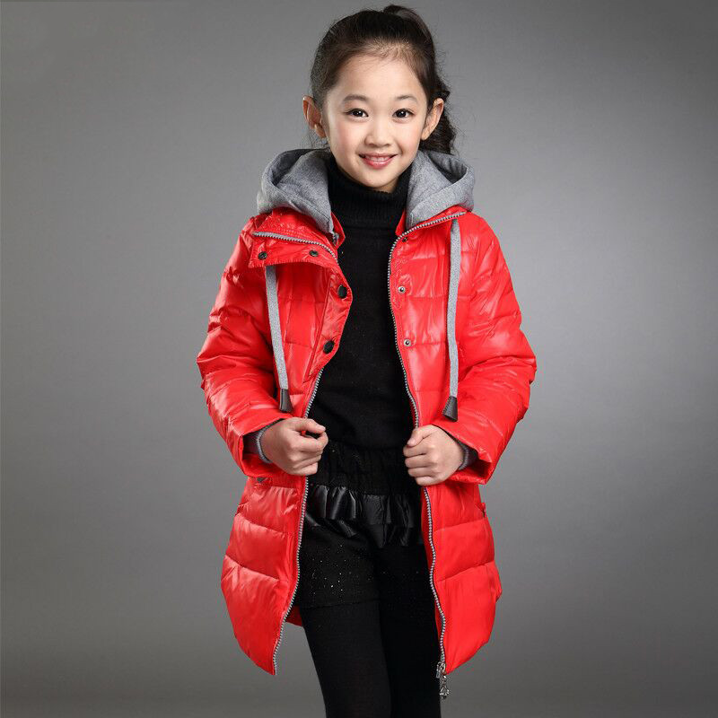 2018 Autumn Winter Jacket For Girls Clothes Kids Girls Cotton Padded Hooded Coat Parkas Children Thick Warm Wadded Outwear P50 new 2017 winter cotton coat women slim outwear medium long padded jacket thick fur hooded wadded warm parkas winterjas cm1634