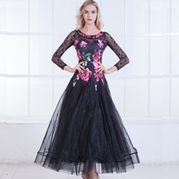 2018 Ballroom Dance Dress Modern Waltz Ballroom Dresses Standard Dance Competition Costume Printing Stage Show Clothing DN1265
