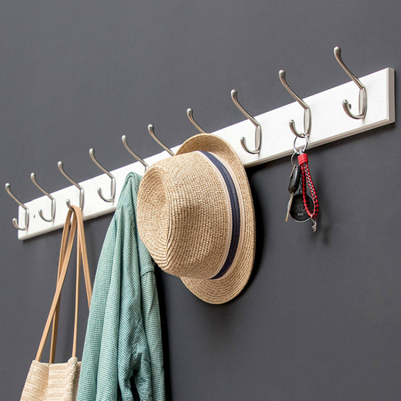 Hook Wall Hanging Coat Hook Door Clothes Hanger Porch Coat Hook Wall Hanger Storage Multifunction Wall Hanger Bathroom(China)