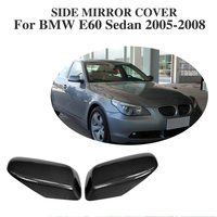 Carbon Fiber Side Wing Mirror Covers for BMW 5 Series E60 Sedan 2005 2008 Replacement type Rearview Mirror Caps