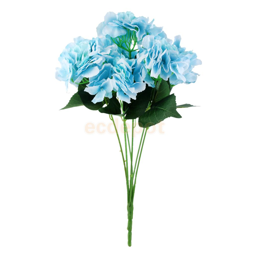 Artificial Silk Flower Hydrangea Bouquet Wedding Home Party Decorate