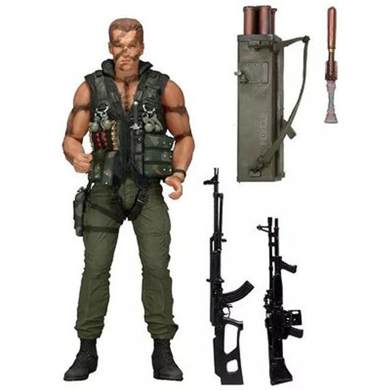 7 18 cm Commando 30th John Matrix Arnold Schwarzenegger Action Pvc Figure Da Collezione Model Toy Action & Figures Toy neca terminator 2 judgment day t 800 arnold schwarzenegger pvc action figure collectible model toy 7 18cm kt1818